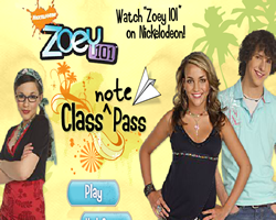 Zoey 101 Class Note Pass